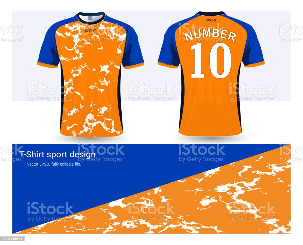 Soccer Jersey And Tshirt Sport Mockup Template Graphic Design For