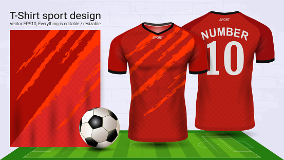 Download Soccer Jersey And Tshirt Sport Mockup Template Graphic ...