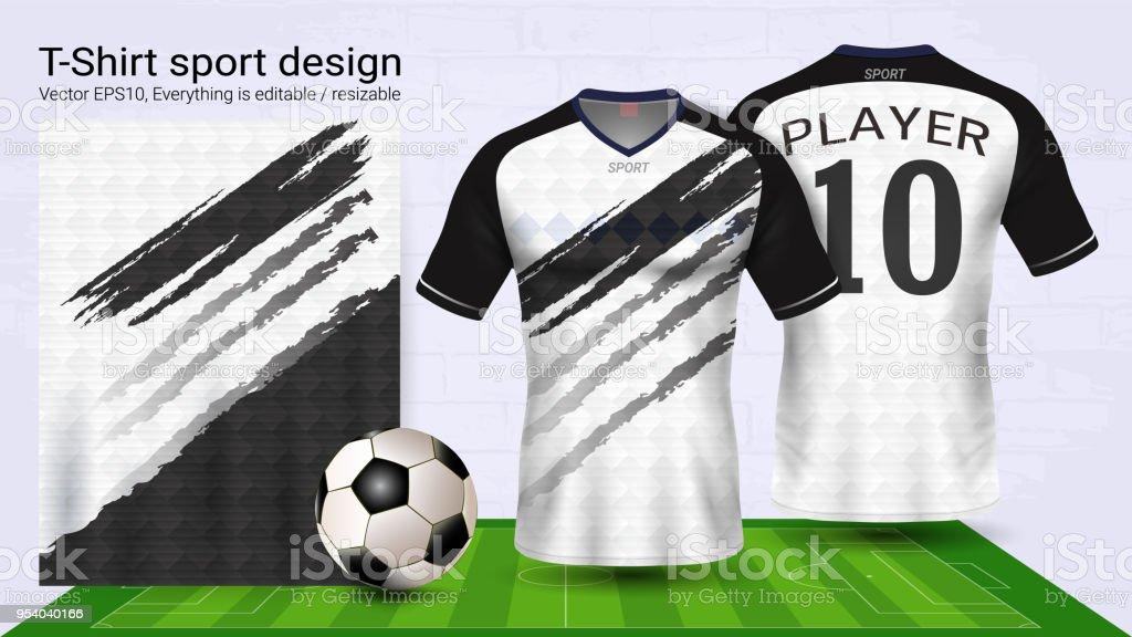 Fußballtrikot Und Tshirt Sport Modell Vorlage Grafikdesign Für ...