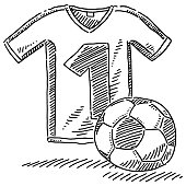 Soccer Jersey Ball Symbol Drawing