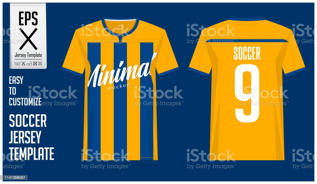 b50886cc7bd Soccer Jersey Football Kit Or Tshirt Sport Template Design In ...