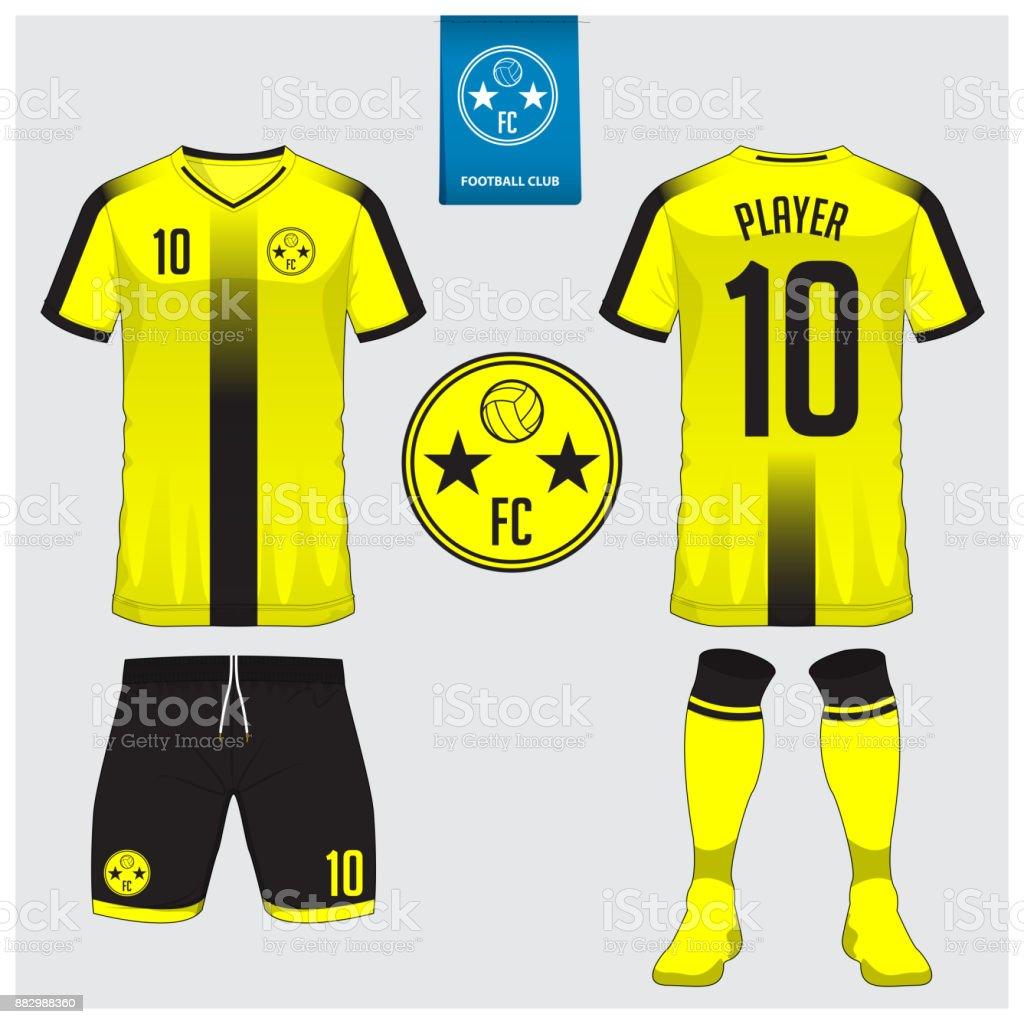 Soccer Jersey Football Kit T Shirt Sport Short Sock Template For