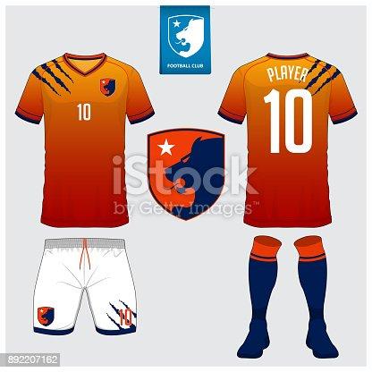 istock Plantilla de diseño de deporte polo t shirt de fútbol jersey d1ed5cf239f93