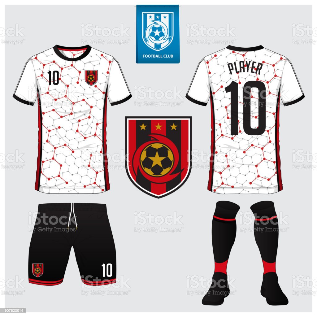Ilustración de Camiseta De Fútbol Kit Del Balompié Deporte Camiseta ...