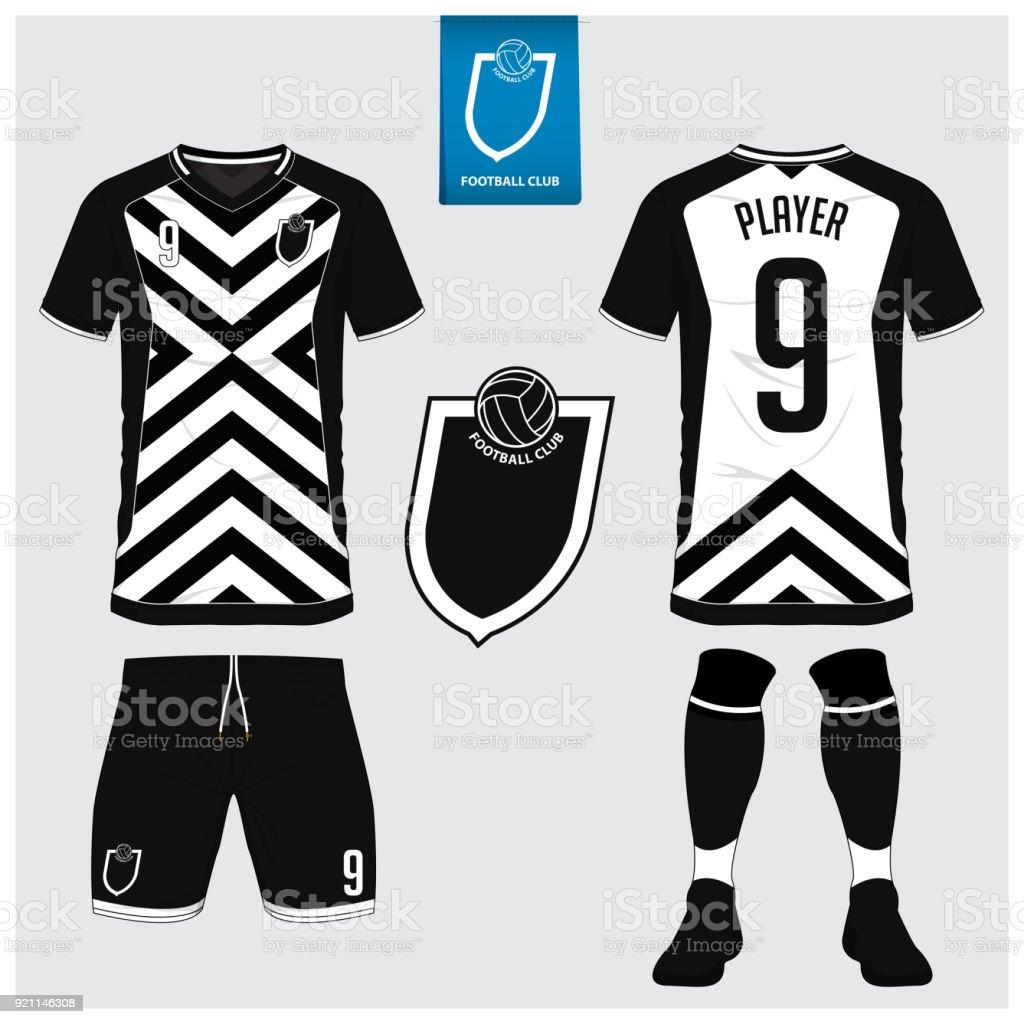 779b0362be71f Vetor de Camisa De Futebol Kit De Futebol Esporte De Tshirt Curto ...