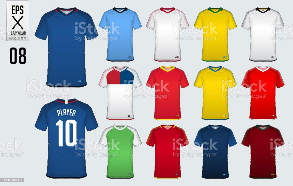 Soccer Jersey Football Kit T Shirt Sport Template Design For Club