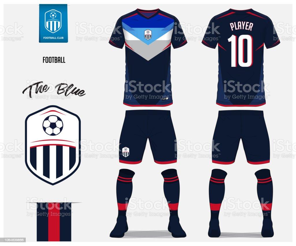 soccer jersey or football kit shorts sock template design for soccer