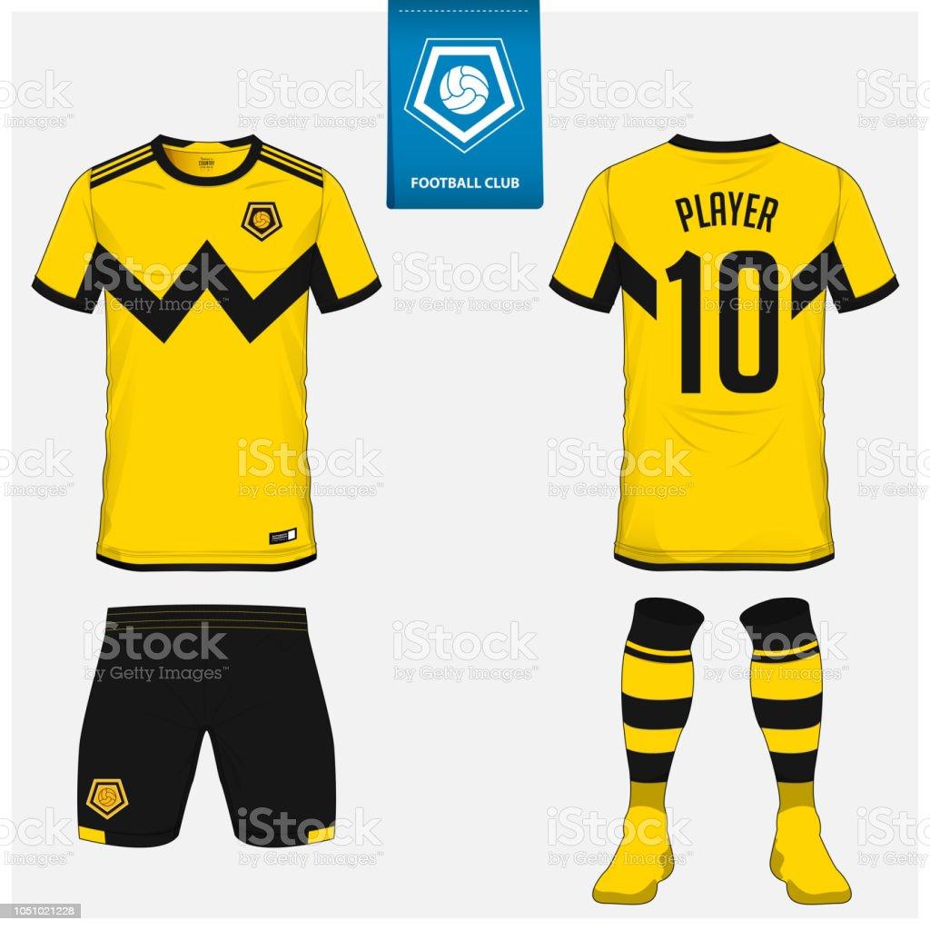 Camiseta deportiva del club de fútbol amarillo y negro
