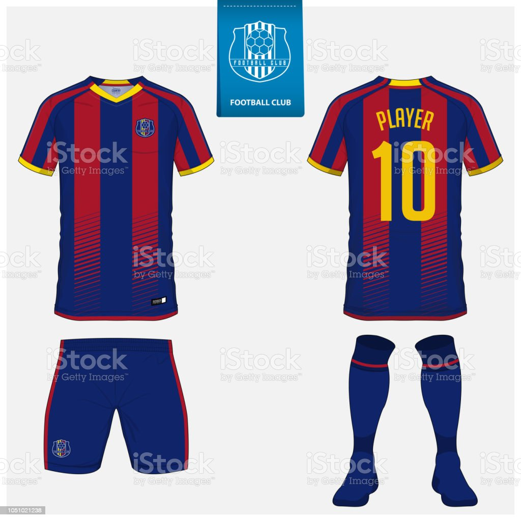 soccer jersey or football kit shorts sock template design for sport