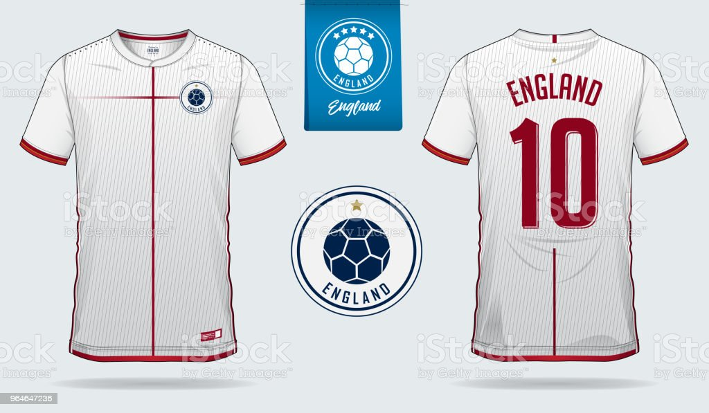 timeless design 90ab5 4210f Soccer Jersey Or Football Kit Template Design For England ...