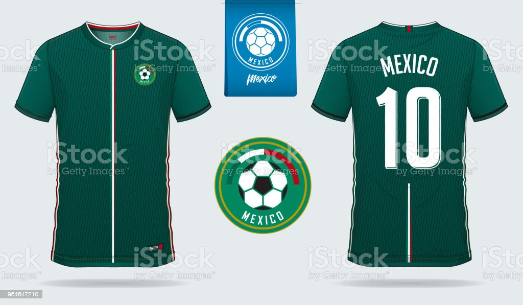 online store 37207 5bf2d Soccer Jersey Or Football Kit Template Design For Mexico ...