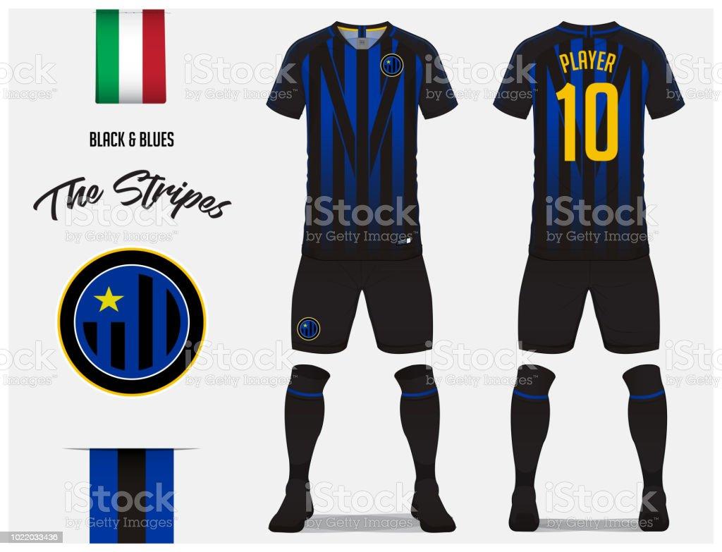 Fútbol jersey fútbol kit plantilla o para club de fútbol. Camiseta de fútbol  de rayas 5b07e4afbfbeb