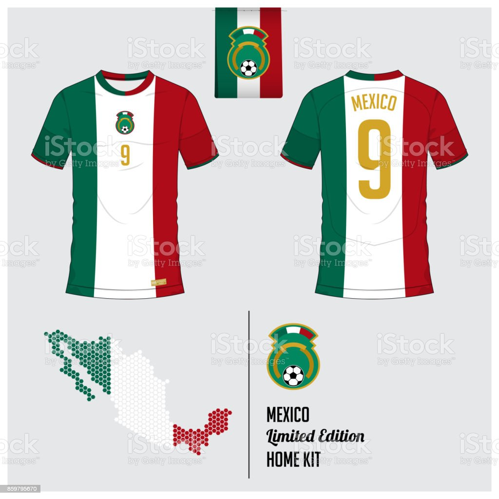 2cff9e100 Soccer Jersey Or Football Kit Template For Mexico National Football ...