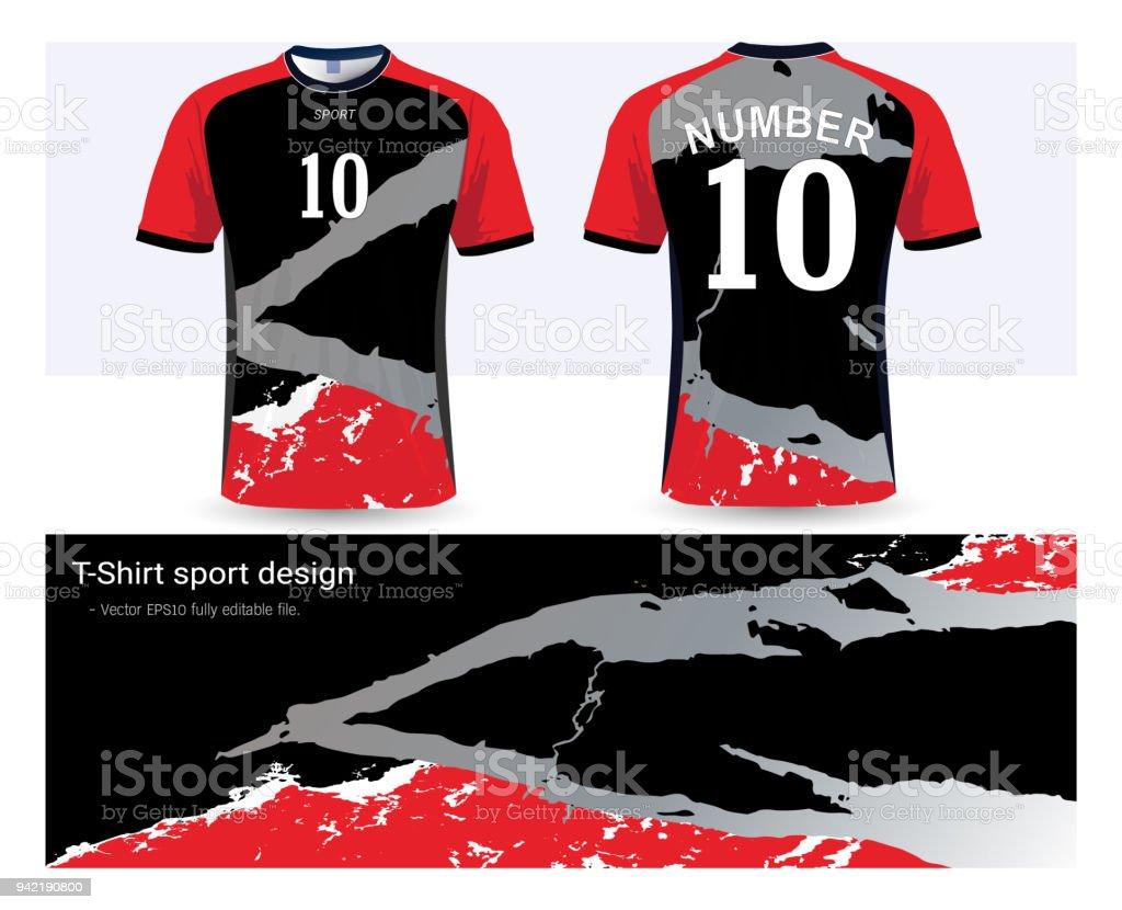 c179bfa0ff3 Soccer Jersey Template For Football Club Or Sportswear Uniforms ...