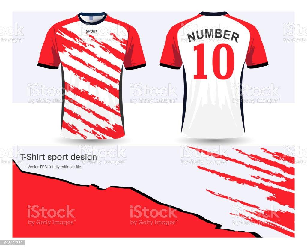 Ilustración de Plantilla De Camiseta De Fútbol Para Club De Fútbol O ...