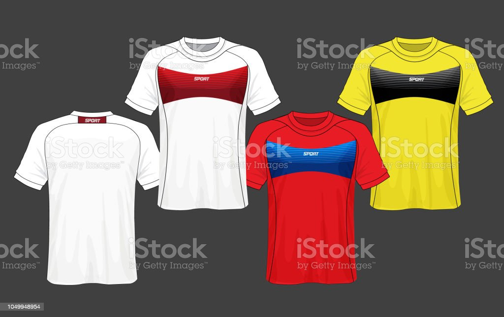 f6170672e1c Soccer jersey template.Red and black layout sport t-shirt design. -  Illustration .