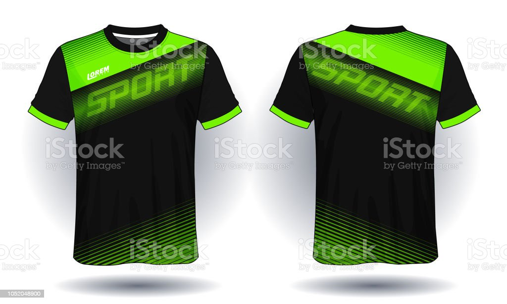 aecb4410a Soccer jersey template.Red and black layout sport t-shirt design. -  Illustration .