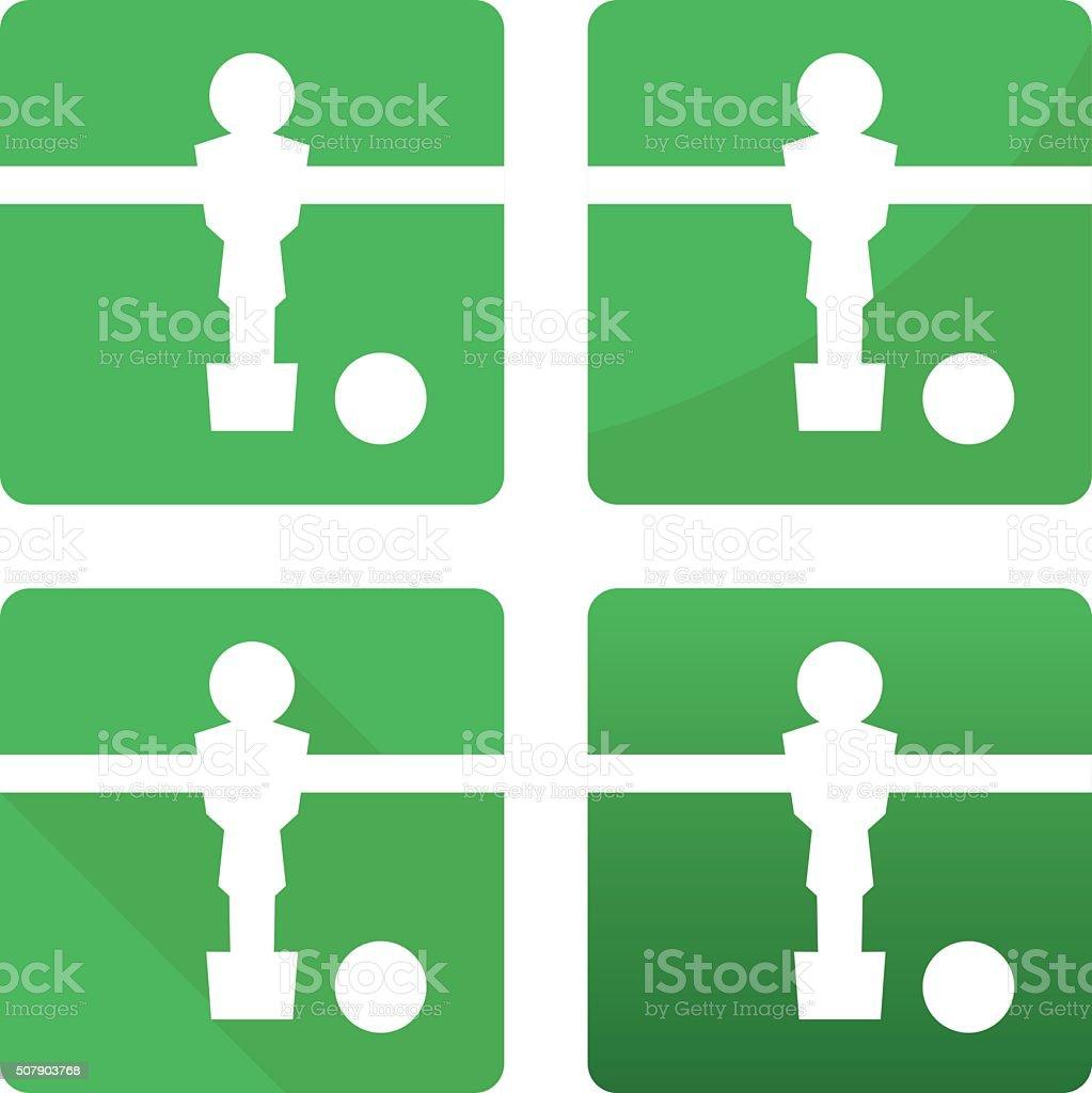 kicker de football joueur de football et de Tableau blanc balle Ensemble d'icônes - Illustration vectorielle