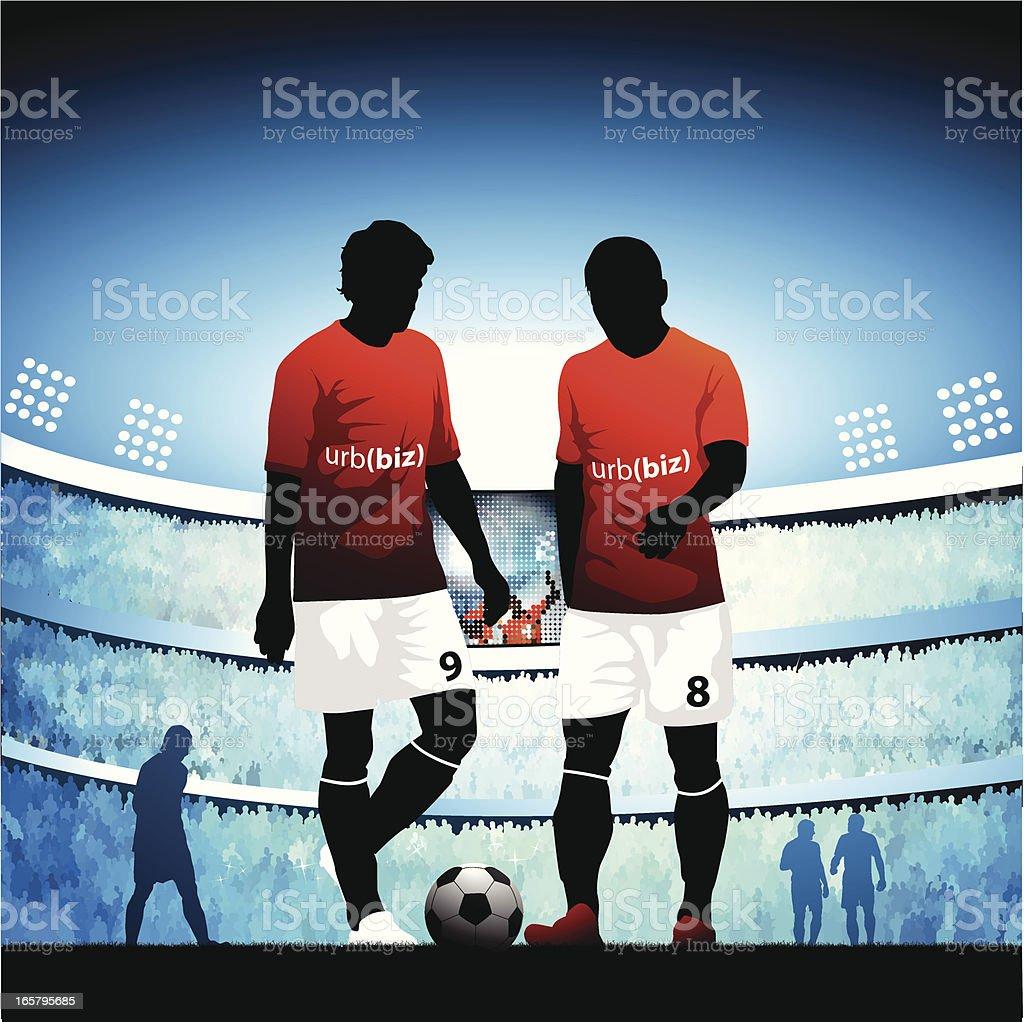 Soccer kickoff vector art illustration