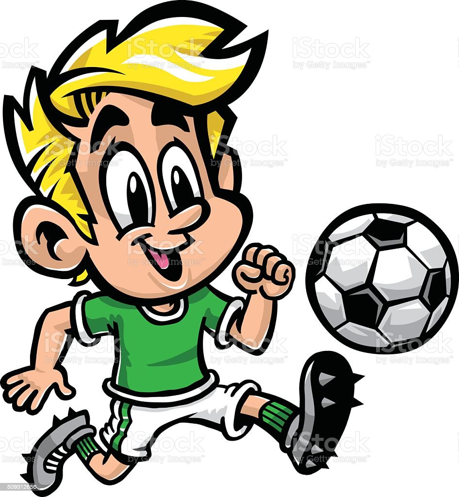 Enfants dessin anim de football cliparts vectoriels et - Dessins de football ...