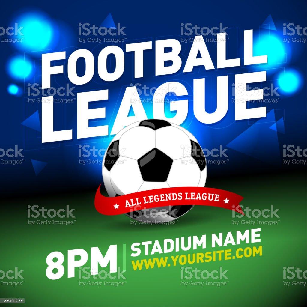 soccer league flyer design football sports invitation template