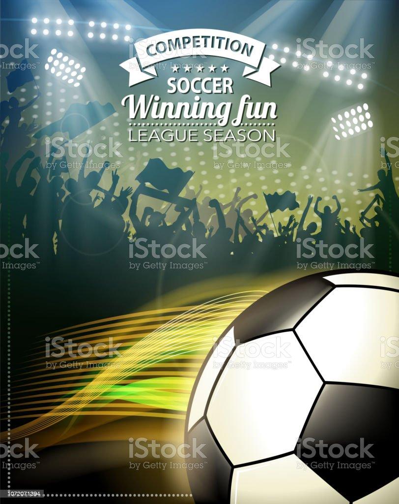 sinal de liga de futebol - ilustração de arte em vetor