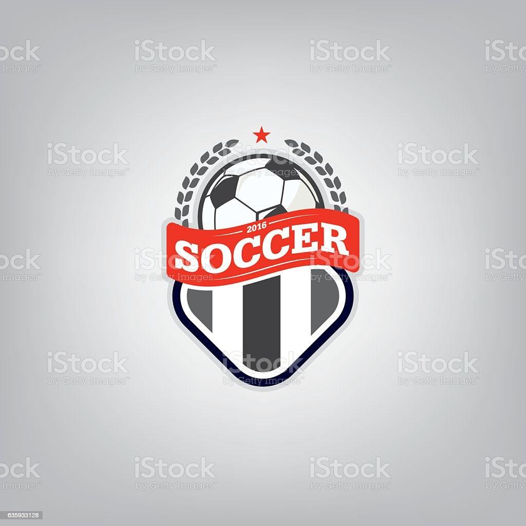 soccer logo design template football badge team identity tシャツの