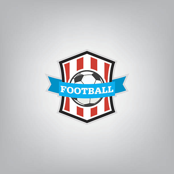 Soccer Logo Design Template Football Badge Team Identity Vector Art Illustration