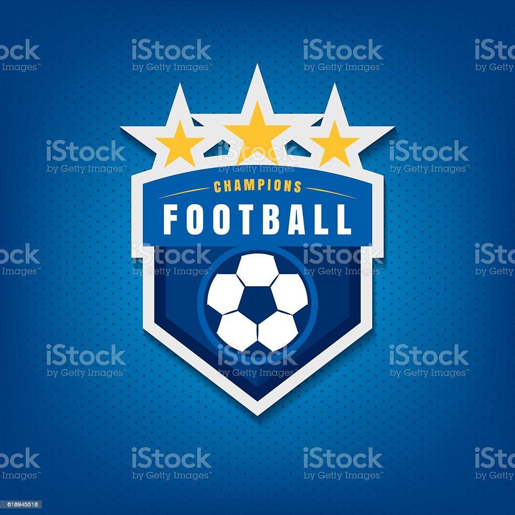 Soccer logo design,vector illustration vector art illustration