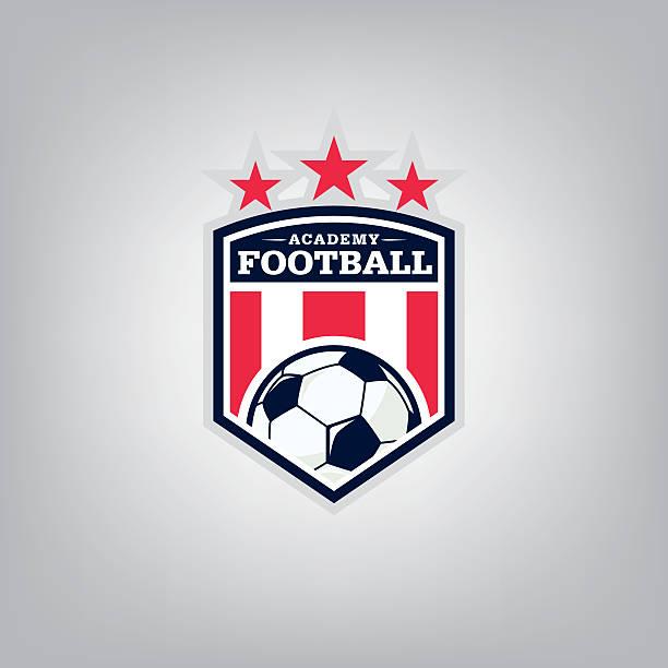 bildbanksillustrationer, clip art samt tecknat material och ikoner med soccer logo emblem design,vector illustration - fotboll eld