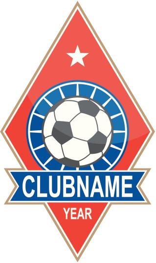 Soccer logo - rhomboid form