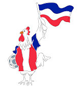 France rooster mascot for football tournaments.