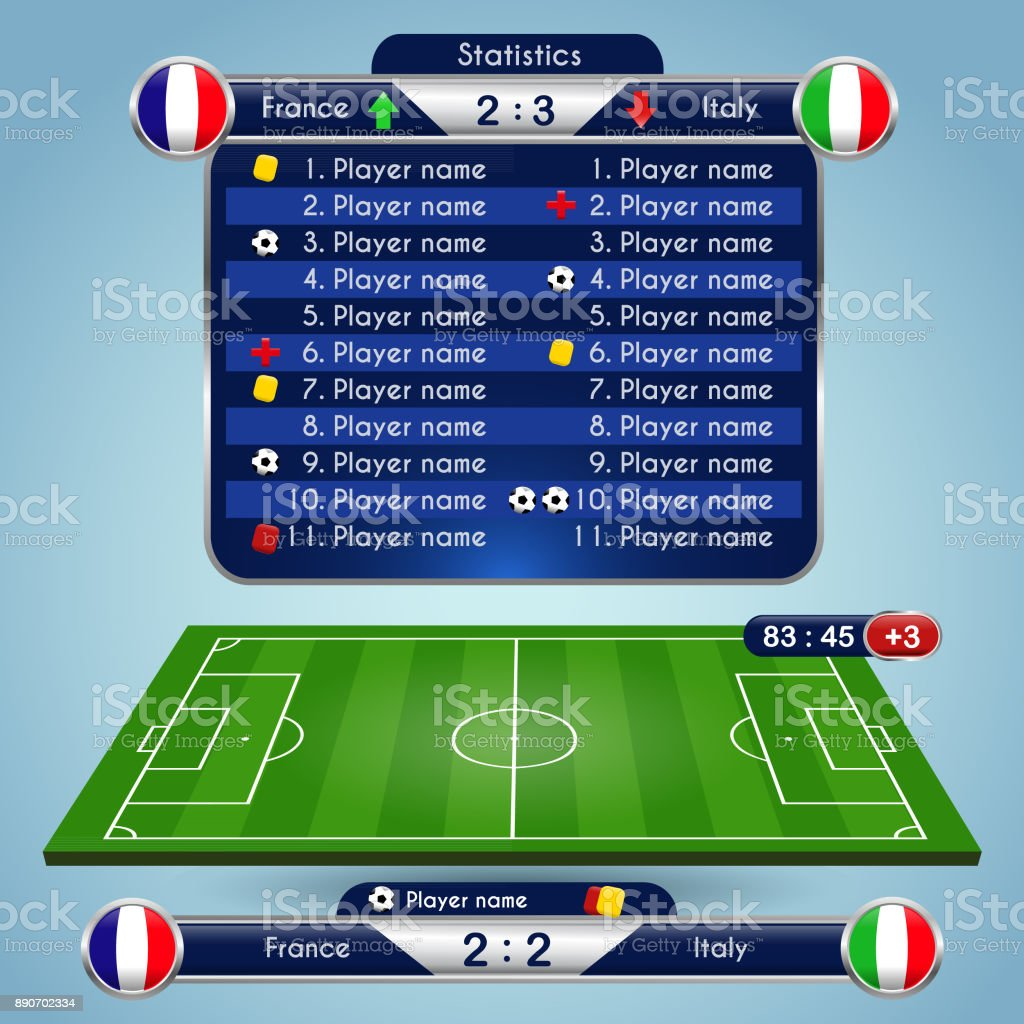 Soccer match statistics template royalty-free soccer match statistics template stock illustration - download image now