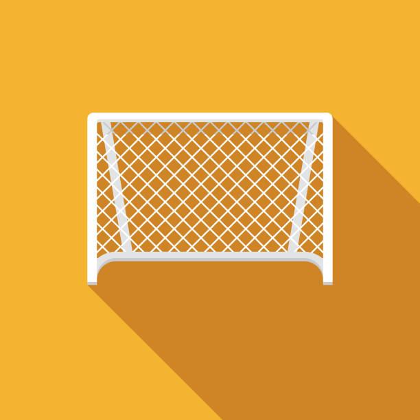 stockillustraties, clipart, cartoons en iconen met voetbal net icon - soccer goal