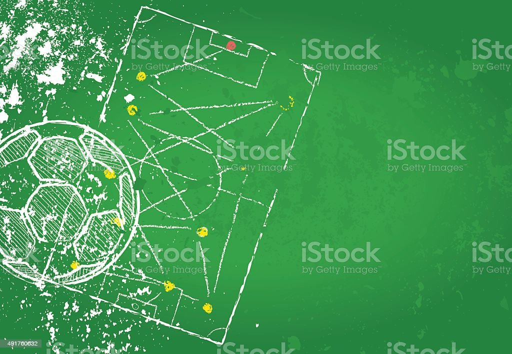 Soccer or Football design template vector art illustration