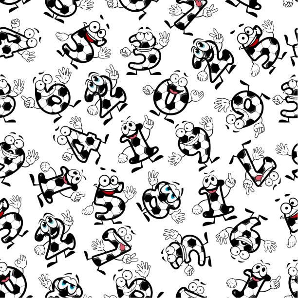 Soccer Or Football Numbers Pattern Vector Art Illustration