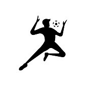 Soccer or football player. soccer vector illustration of a silhouette soccer or football player isolated on white background. Soccer flat design illustration for web, mobile, , icon, and graphic.