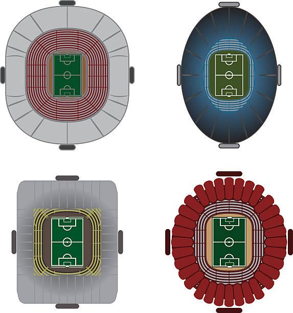 サッカーやフットボールスタジアムベクター - グランドオープン点のイラスト素材/クリップアート素材/マンガ素材/アイコン素材