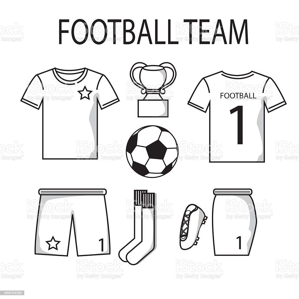 Fußball Oder Fußballtrikotsvorlage Für Sport Club Stock Vektor Art ...