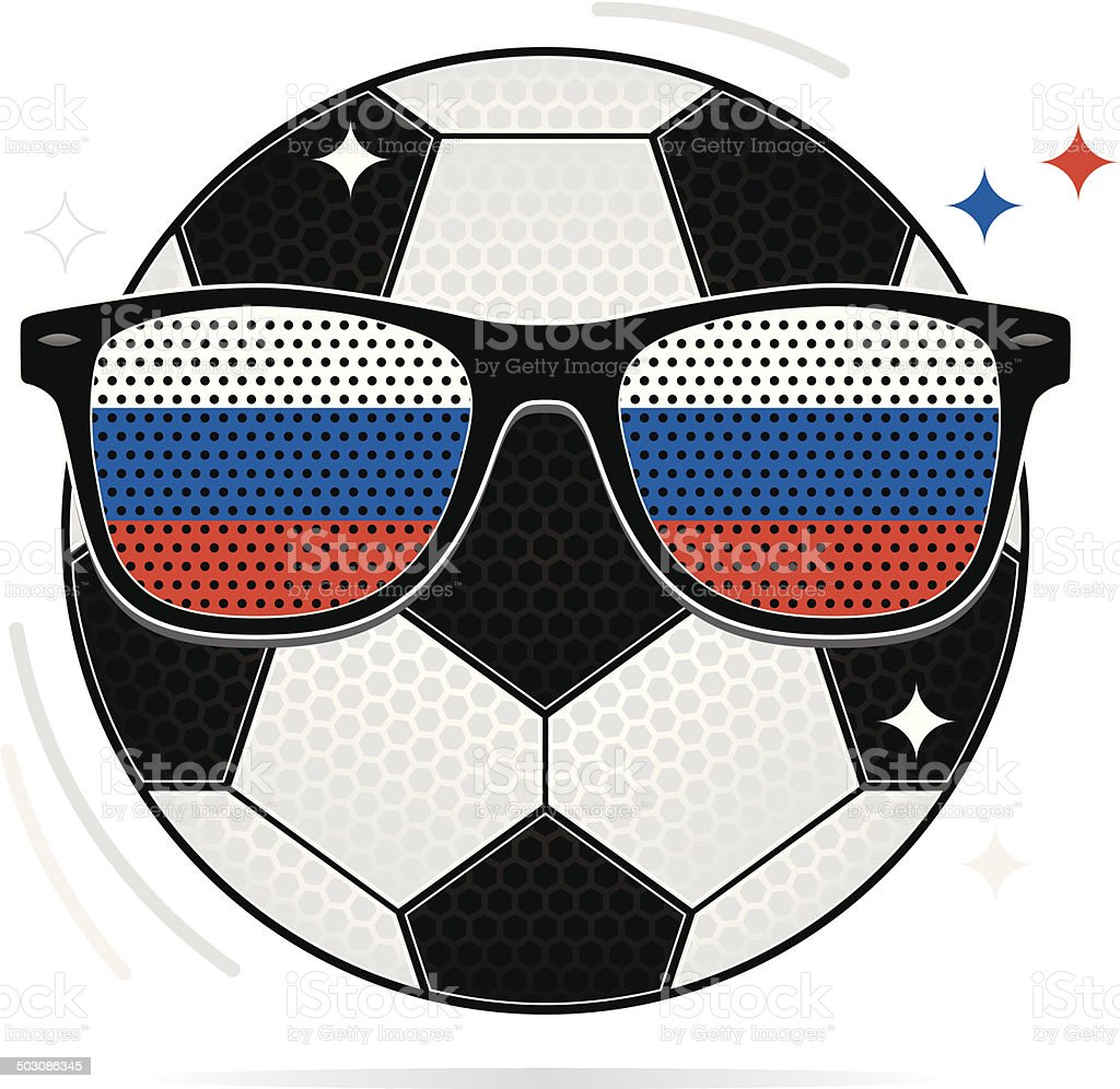 soccer party: russia royalty-free stock vector art