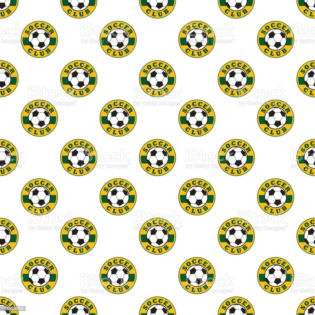 Soccer pattern seamless soccer pattern seamless - immagini vettoriali stock e altre immagini di blasone royalty-free