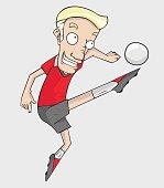 soccer player action kick the ball.