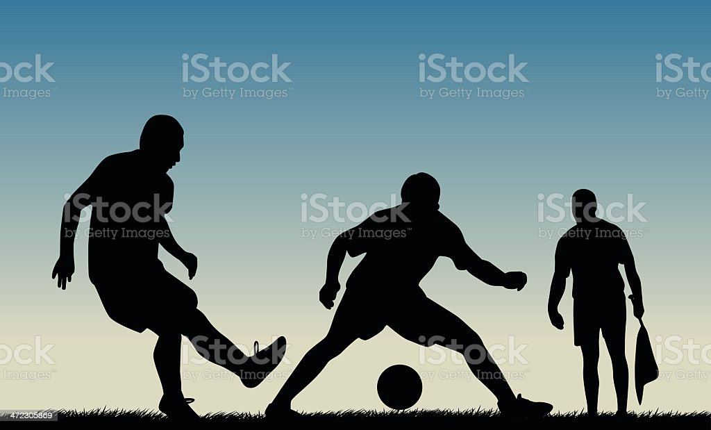 Soccer Player and Assistant Referee royalty-free soccer player and assistant referee stock vector art & more images of activity