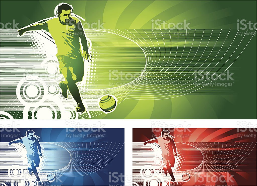 Soccer Player and Ball royalty-free stock vector art