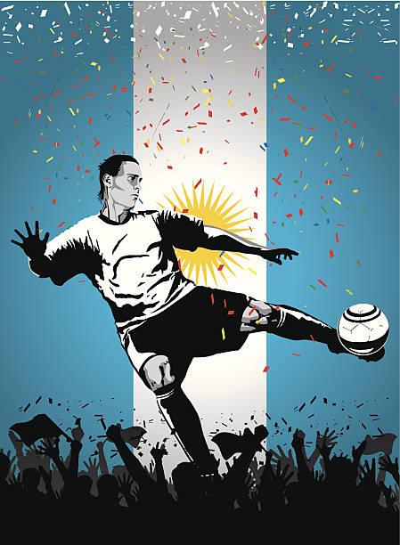Jugador de fútbol de Argentina - ilustración de arte vectorial