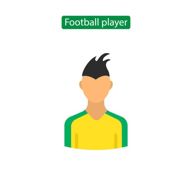 ilustrações de stock, clip art, desenhos animados e ícones de soccer player avatar icon. - soccer supporter portrait