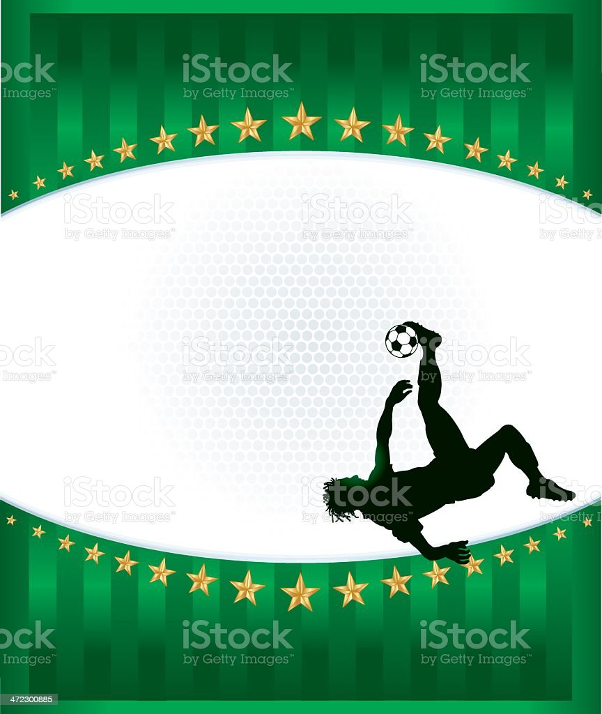 Soccer Player Flip Kick Background - Male royalty-free stock vector art