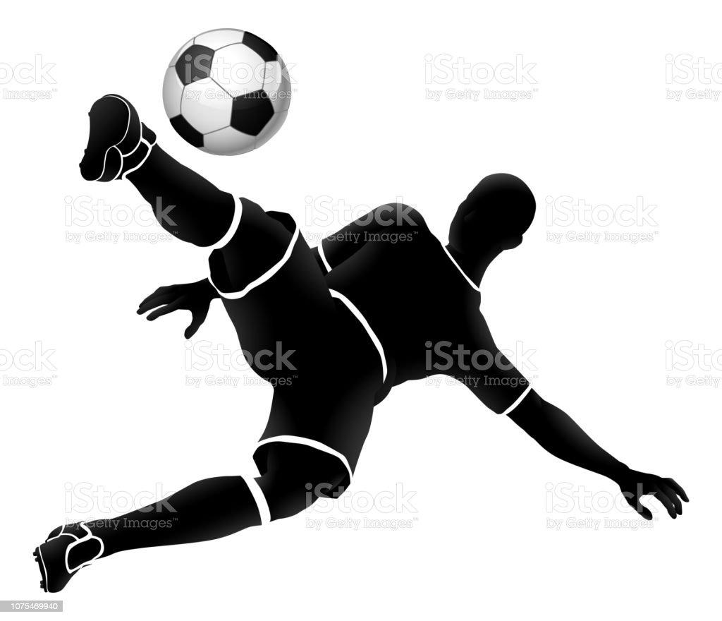 Fussballspieler Fussball Sport Silhouette Stock Vektor Art
