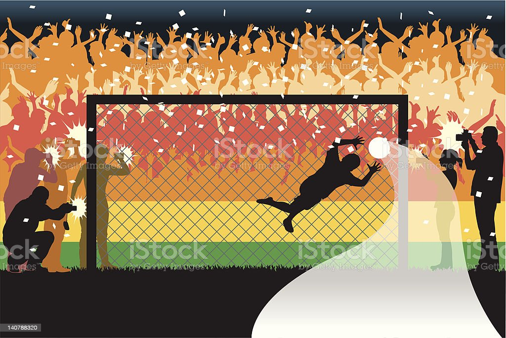 Soccer player goalkeeper vector art illustration