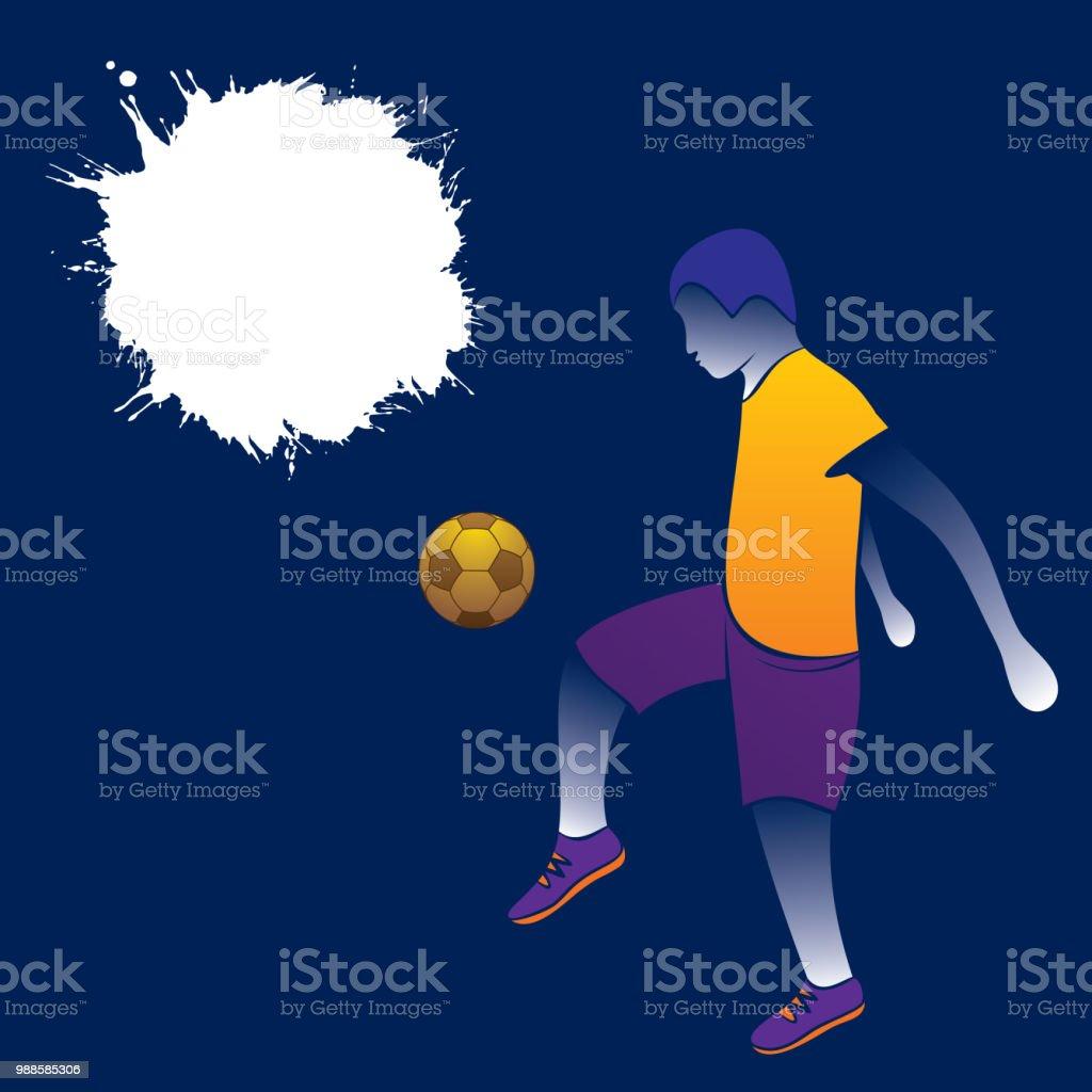 projeto do futebol jogador bater bola - ilustração de arte em vetor